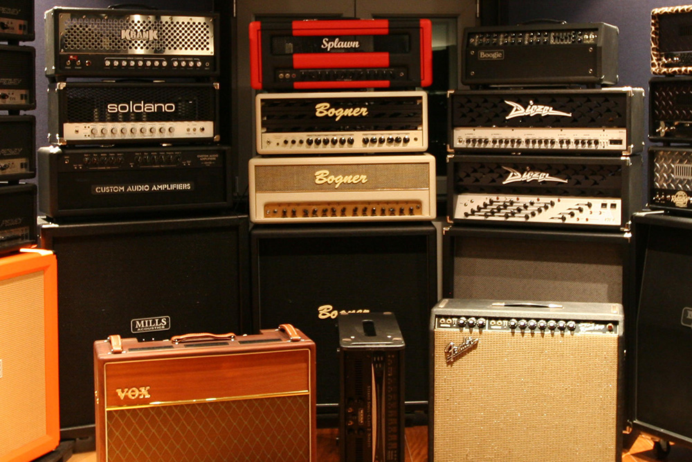 guitar amps wall